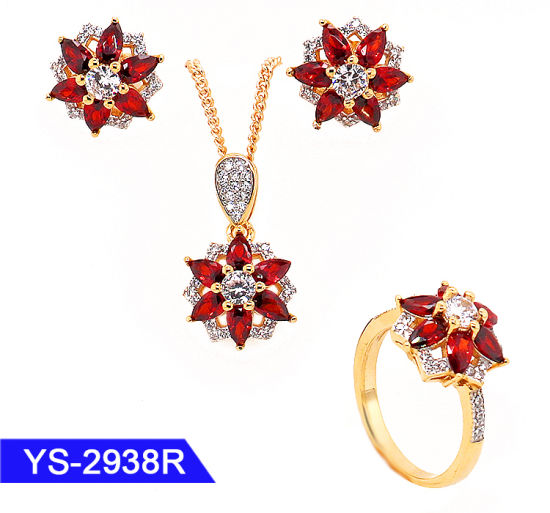 Factory Wholesale New Fashion Jewelry 925 Sterling Silver or Brass Flower Jewellery Set pictures & photos