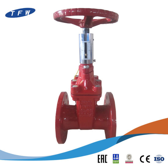 Pn16 Ggg50 Cast Iron Gate Valve with Signal Head pictures & photos