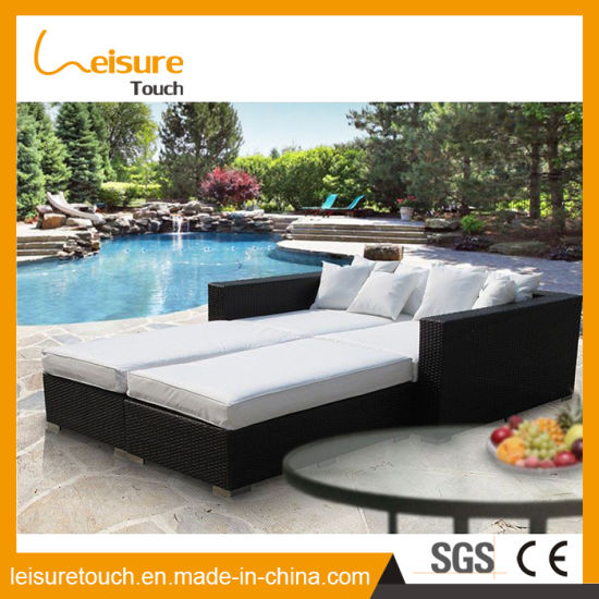 pool beach holiday resort garden furniture rattan double daybed lounger sofa chair - Garden Furniture Day Bed