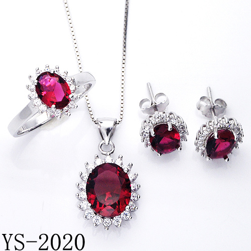 Wholesale 925 Sterling Silver Fashion Jewelry CZ Set for Wedding pictures & photos