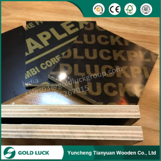 18mm Phenolic Shuttering Brown Film Faced Marine Plywood pictures & photos