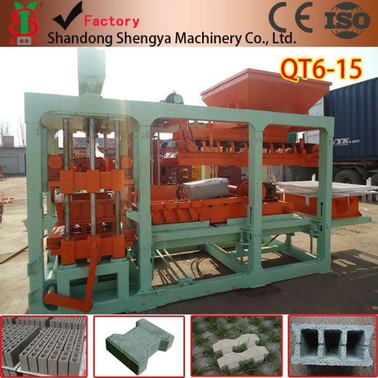 Hot Sales Qt6-15 Automatic Concrete Block Making Machine Have Office in Africa pictures & photos