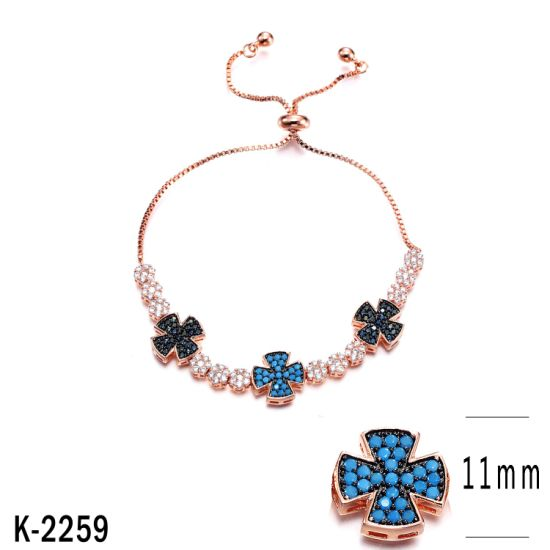 Wholesale 925 Sterling Silver Jewelry Cubic Zirconia Bracelet for Women pictures & photos