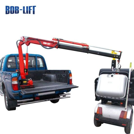 Small Pickup Truck Crane with Hydraulic Crane Winches pictures & photos