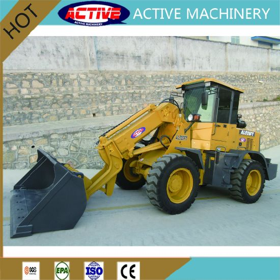 AL926FT 1.5ton Telescopic wheel loader with standard bucket and high dumping height pictures & photos