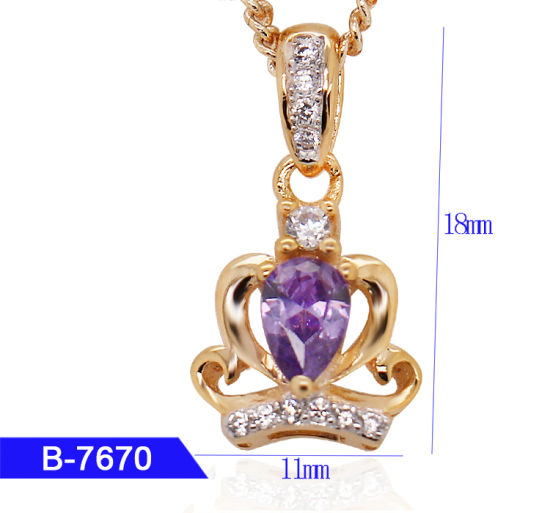 New Model 925 Sterling Silver or Brass Personalized Jewelry CZ Crown Pendant for Sale pictures & photos