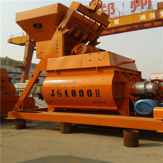 New Type Js1000I Twin Shaft Concrete Mixer pictures & photos