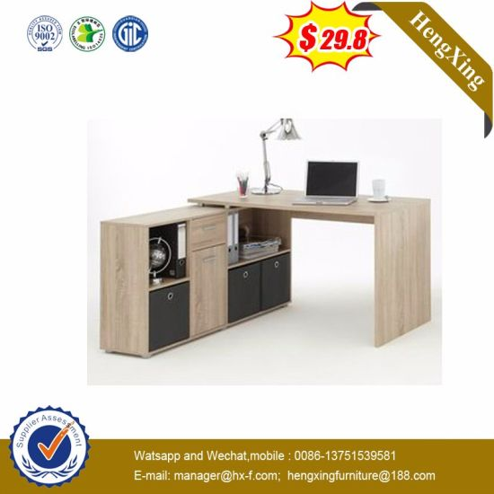 Modern L Shape Wooden Office School Writing Laptop Computer Desk pictures & photos