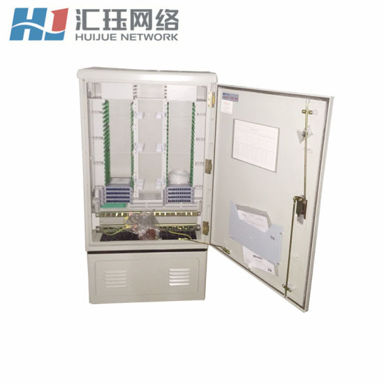 FTTH 576 Core Outdoor SMC Fiber Cross Connect Cabinet with Box Type Splitter Available pictures & photos
