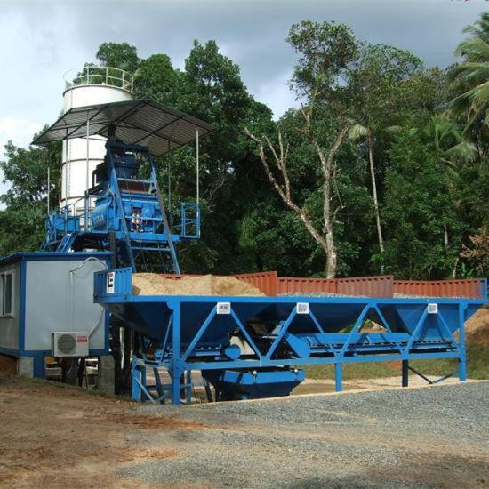 25m3 /H Portable Concrete Batching Plant in Sri Lanka pictures & photos