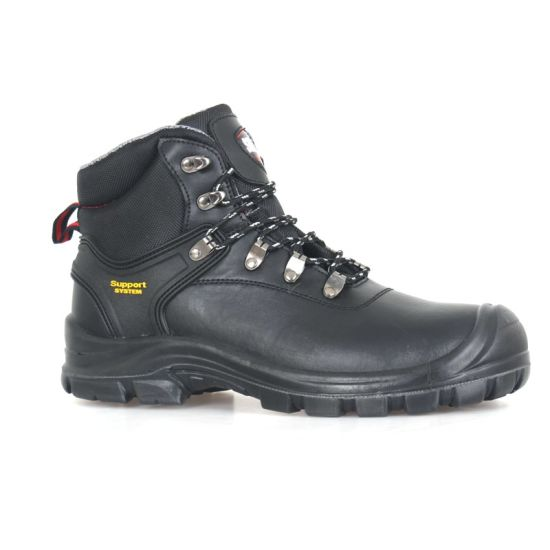 Black Smooth Leather Work Boots Safety Footwear (SN6061) pictures & photos
