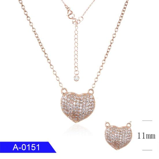Wholesale Latest Design Fashion Jewelry 925 Sterling Silver Heart Long Necklace for Women pictures & photos