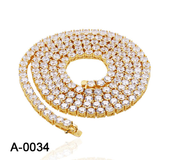 Wholesale Fashion Jewelry 925 Sterling Silver Tennis Chain Necklace for Men pictures & photos