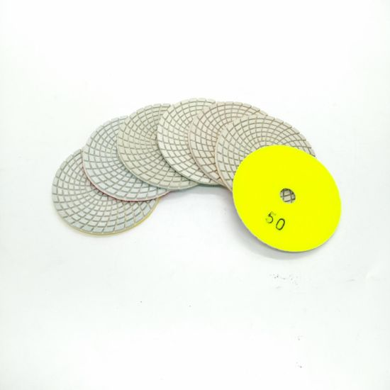 100mm 7 Steps Diamond Stone White Flexible Dry Wet Polishing Pads pictures & photos