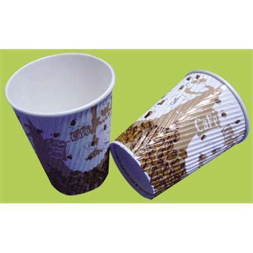8oz/12oz/16oz Customized Logo Printed Ripple Wall Paper Cup for Hot Coffee pictures & photos