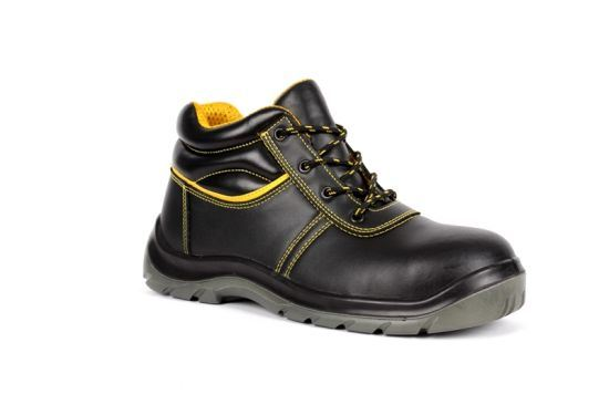 High Quality Standards S1p Men Safety Shoes Black Smooth Leather Safety Footwear/Working Shoes Sn5810 pictures & photos