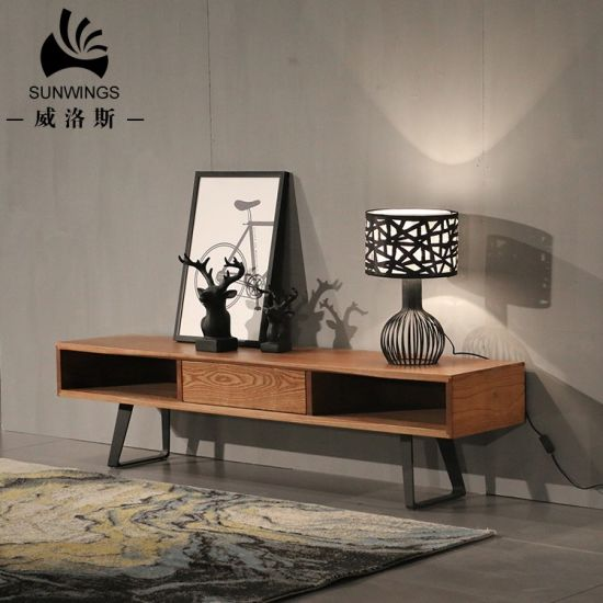 Showcase Wooden TV Stand with Single Drawer pictures & photos