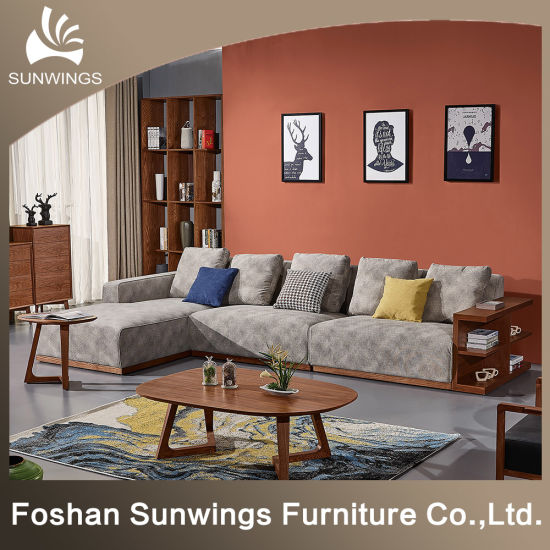 Solid Wood Corner Sofa for Nordic pictures & photos