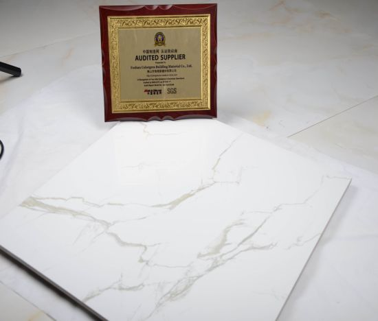 Carrara White Marble Glazed Porcelain Floor Tile for Home Decoration pictures & photos