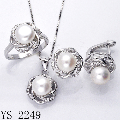 Factory Wholesale 925 Sterling Silver Fine Pearl Jewelry Set for Women pictures & photos