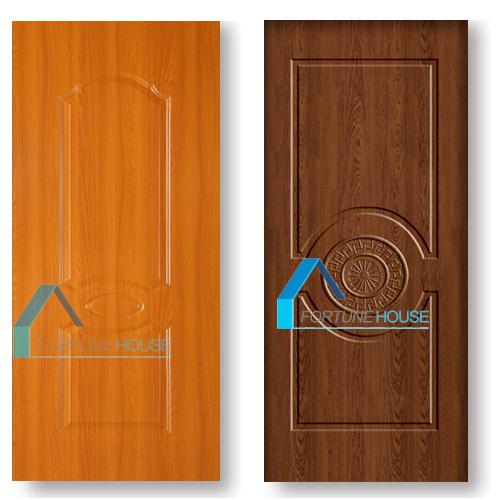 Yellow Teak Colormelamine Molded Door Skin for Interior Doors pictures & photos