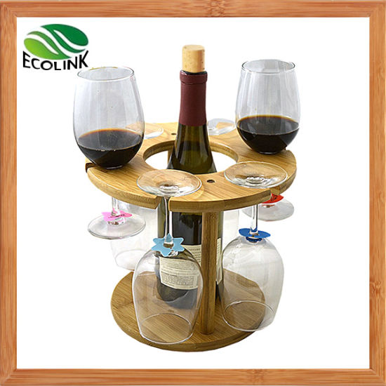 Natural Bamboo Wine Holder Wine Display Rack pictures & photos