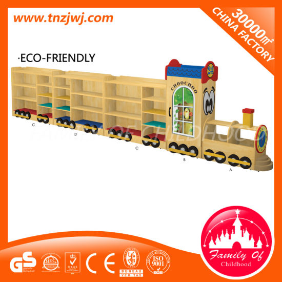 High Quality Kids Display Rack Train Model Storage Cupboard pictures & photos