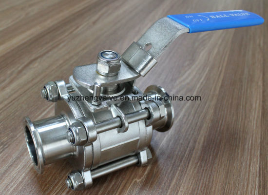 Bright Surface Ss304/Ss316 3PC Clamp Ball Valve pictures & photos