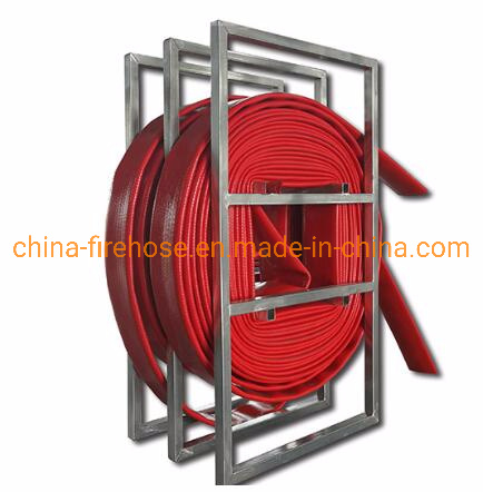 Red 500 Psi 4inch Water Delivery High Pressure TPU Layflat Frac Slurry Hose pictures & photos