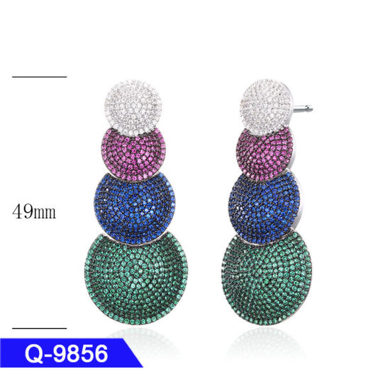 Wedding Jewellery Sterling Silver or Brass Fashion Jewelry Drop Earrings for Girls pictures & photos