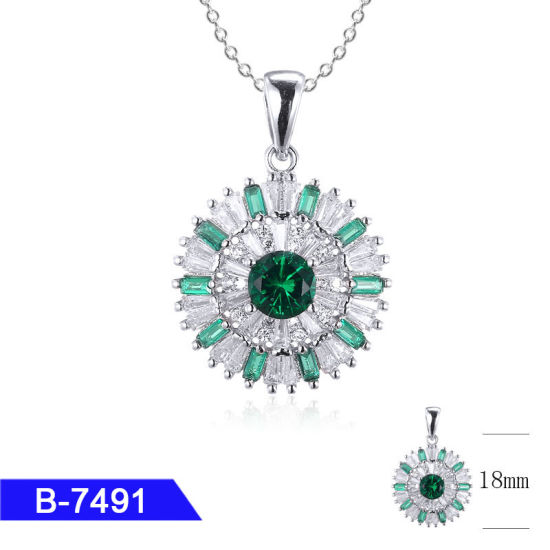 Wholesale Latest Model 925 Sterling Silver or Brass Bridal Jewelry CZ Stone Pendant for Women pictures & photos