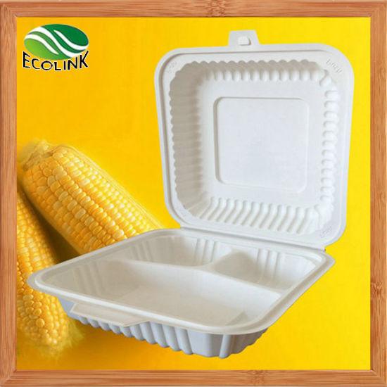 1000ml Cornstarch Disposable Biodegradable Food Box pictures & photos