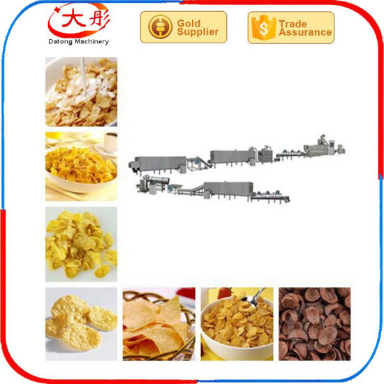 Corn Flakes Double Screw Extruded Snacks Machine pictures & photos