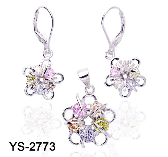 Factory Wholesale Silver or Brass Fashion Jewelry Set for Women pictures & photos