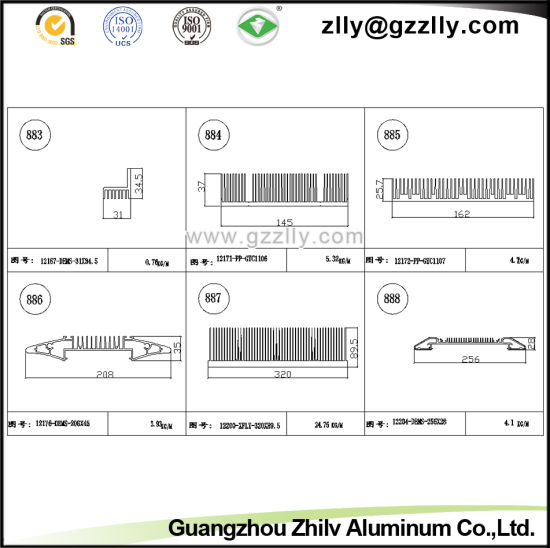Building Material Aluminum Heat Sink for Car&Equipemnt&Light&Window&Door etc pictures & photos
