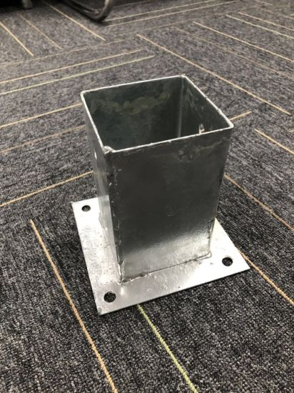 Post Anchors 4X4 Bolt Down Post Base for Solar System/High-Way Construction pictures & photos