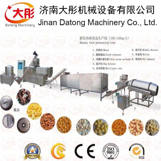 Puff Corn Snacks Food Extruder Machine pictures & photos