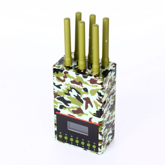 2017 Latest LCD Screen Portable 3G/4G Mobile Phone Signal Jammer GPS Lojack Jammer WiFi Blocker pictures & photos