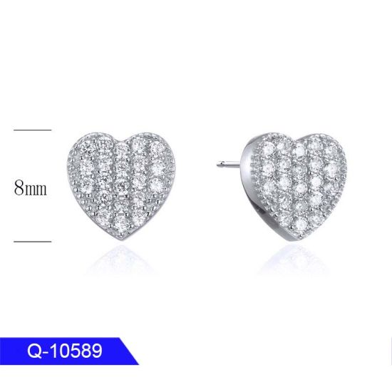 Wholesale Iced out Jewelry 925 Sterling Silver CZ Stone Earrings for Man pictures & photos