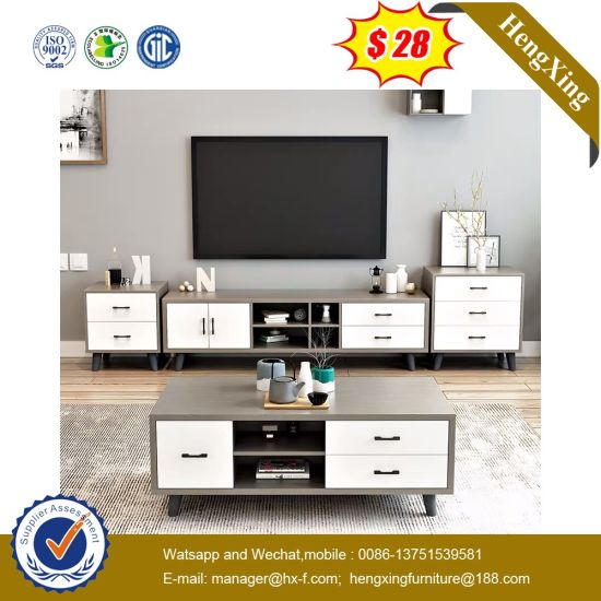 Elegant Living Room Solid Wood Coffee Table MDF Board TV Cabinet Set pictures & photos