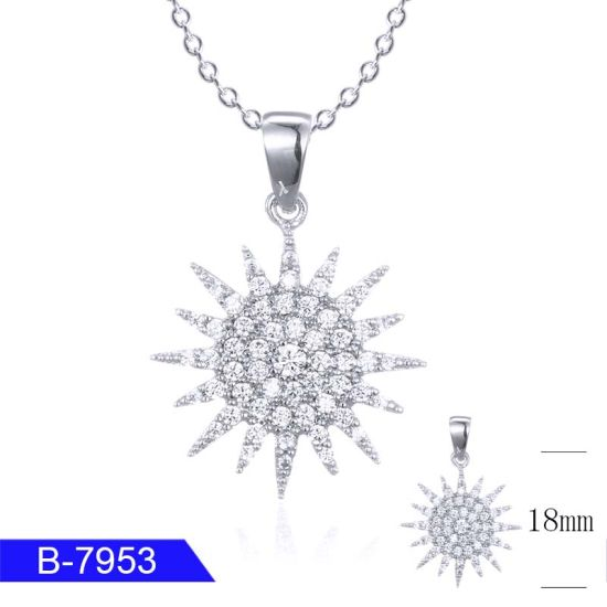 Factory Wholesale Women′s Fashion Jewelry 925 Sterling Silver Cubic Zirconia Pendant pictures & photos