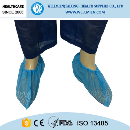 Disposable Anti Skid Shoes Covers for Floor Protection During pictures & photos