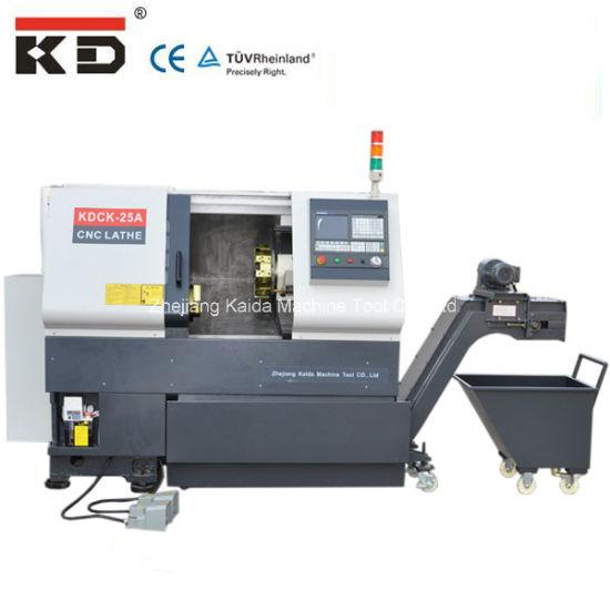 High-Precision Slant-Bed CNC Lathe Machine Kdck-25 pictures & photos