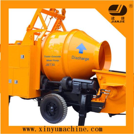Portable Trailer Concrete Pump with Mixer (JBT30) pictures & photos