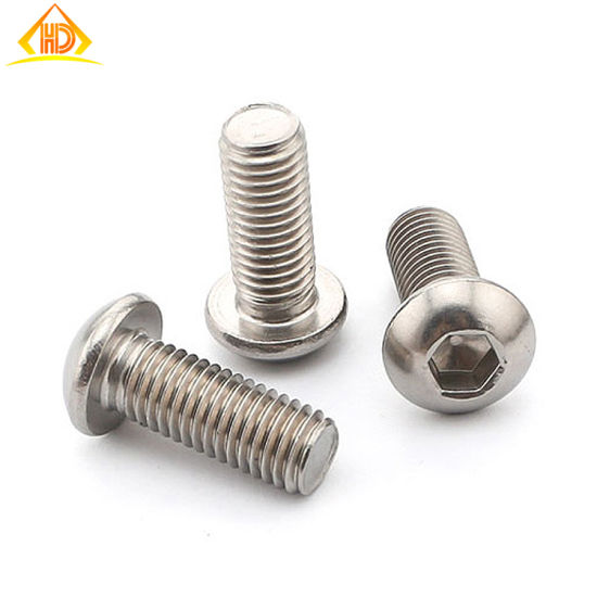 SS304/316 Hex Socket Button Head Machine Screw pictures & photos