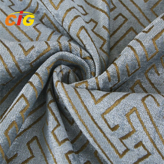 Jacquard Cheille Fabric 100% Polyester for Furniture pictures & photos