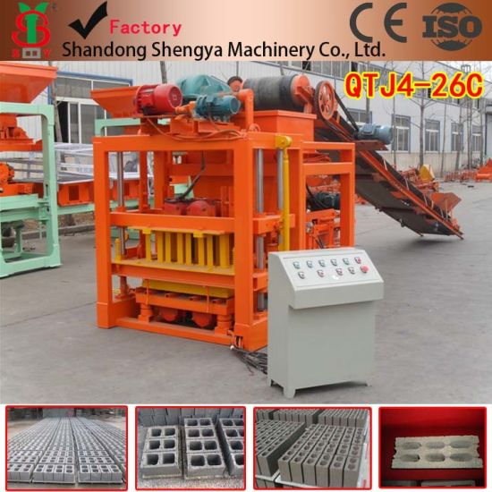 Hollow Interlocking Brick Making Machinery Hot Sale in Mozambique Qtj4-26c pictures & photos