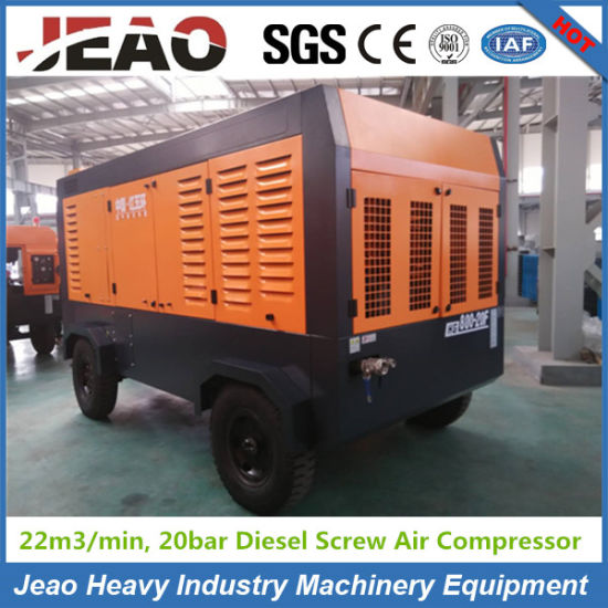 High Pressure 264kw 800cfm Portable Screw Diesel Mining Air Compressor Delivery to South Africa pictures & photos