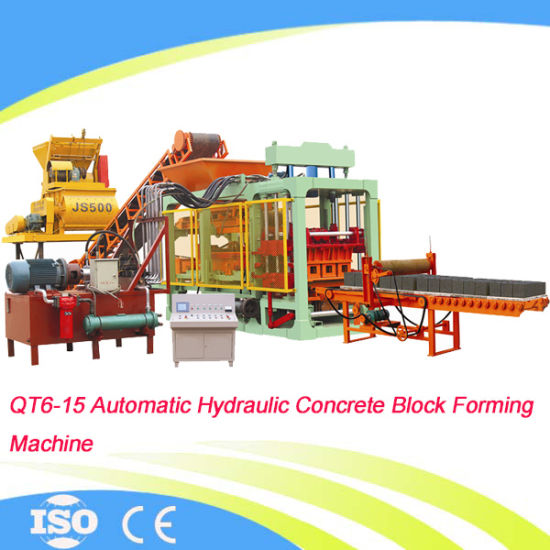 Automatic Hydraulic Cement Brick Making Machine Qt6-15 pictures & photos