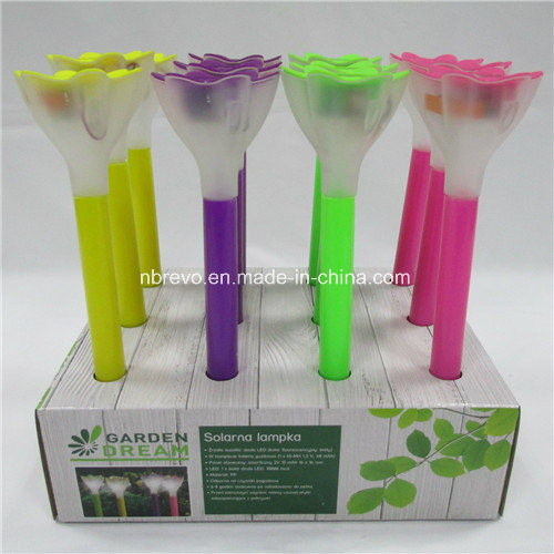 Colorful LED Solar Garden Flower Light (RS008) pictures & photos